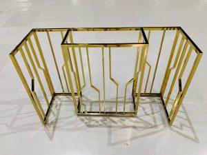 gia công bàn console inox mạ vàng đẹp