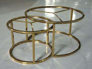 Chân bàn trà đôi inox mạ vàng