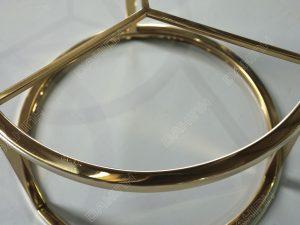 Inox mạ vàng - chân bàn trà mạ pvd