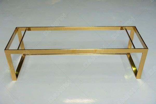 kệ inox mạ vàng để đồ trang trí tại Đa Hình