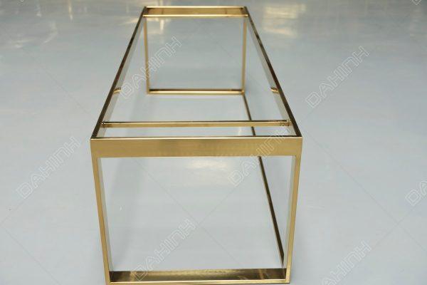 kệ inox mạ vàng để đồ trang trí đẹp