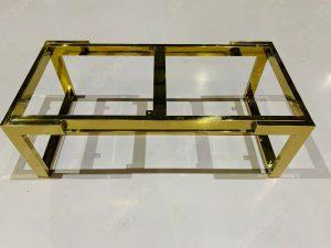 Chân ghế đôn sofa inox mạ vàng