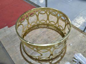chân bàn trà inox mạ vàng