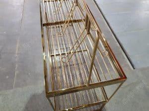 Giá treo ly Inox Mạ Vàng gia công tại Đa Hình