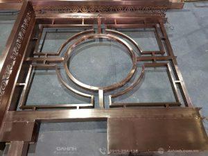 Gia công mái kính khung inox mạ đồng tại xưởng cơ khí Đa Hình